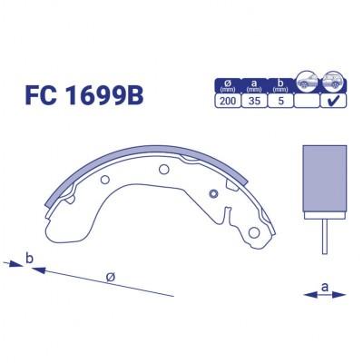 Колодка тормозная задняя Chevrolet Aveo T250, FC1699B, к-т
