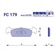Тормозные колодки Dacia Logan II, FC179, к-т