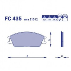 Тормозные колодки Hyundai Accent I, II,  FC435, к-т