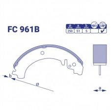Колодка тормозная задняя ВАЗ Нива, FC961B, к-т