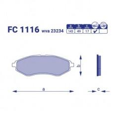 Колодка тормозная передняя Daewoo Nubira 1,6, FC1116, к-т