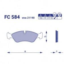 Тормозные колодки передние Daewoo Cielo FC584